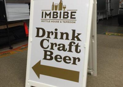 A frame beer board