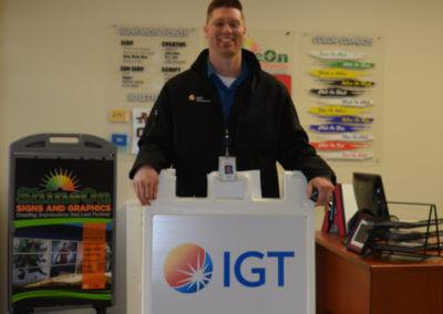 IGT sandwich board