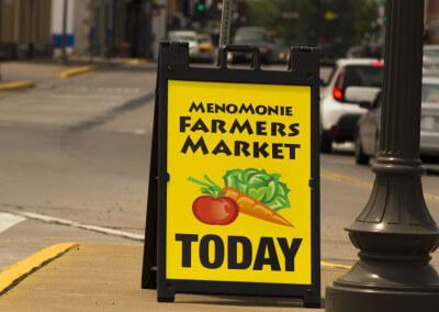 Farmers market a frame sign