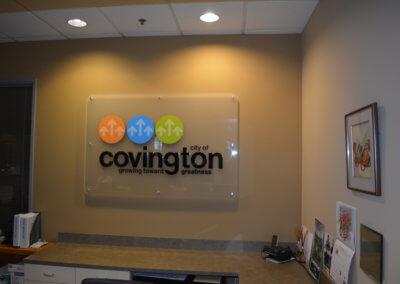 City of Covington Lobby Sign 4