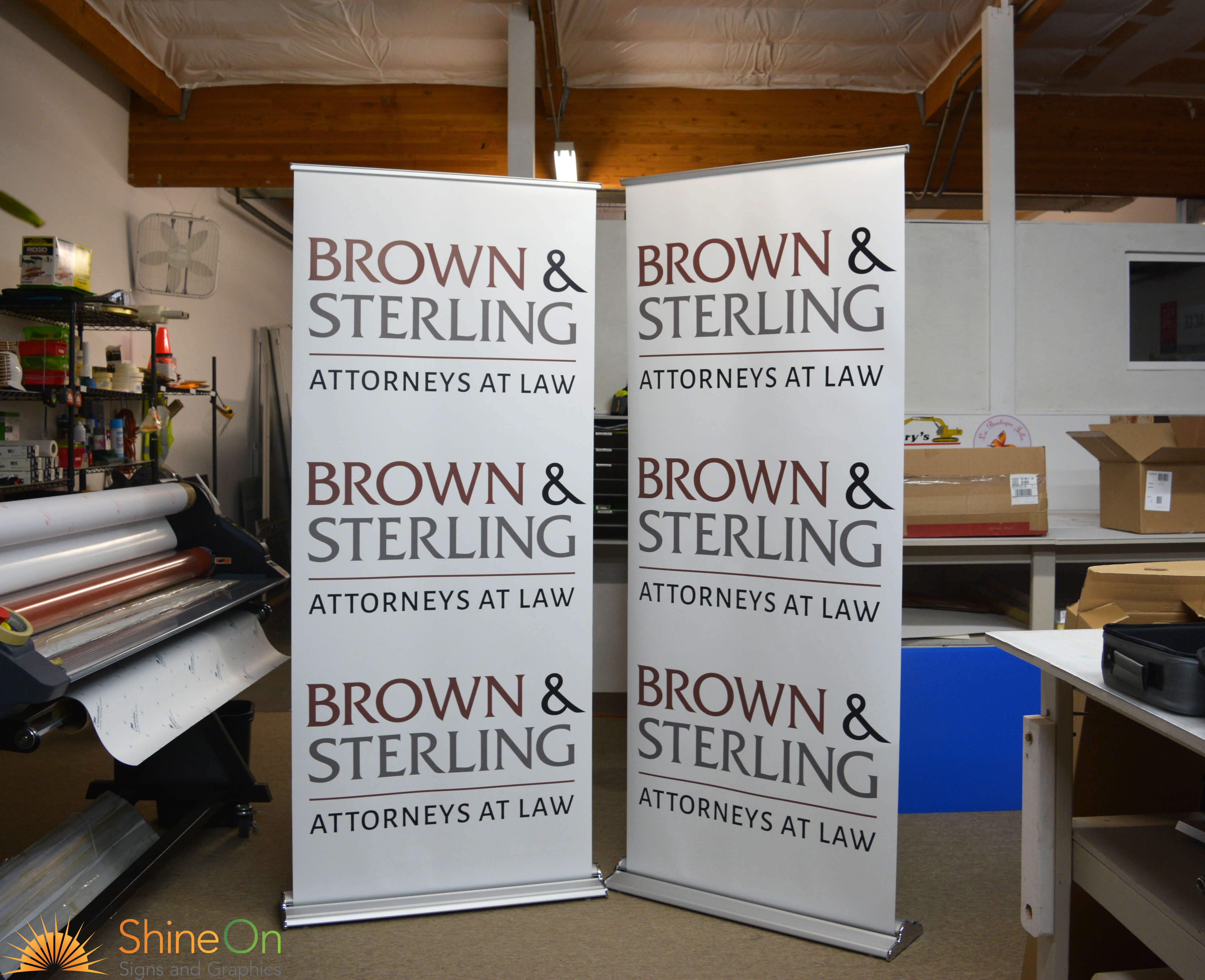 Retractable Banners By Shine On Signs Renton Kent