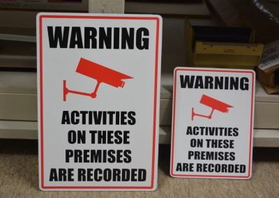 Finished Security Signs