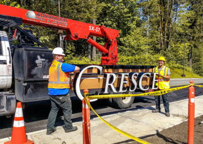 Crescent Market Building Sign Installation (1)-1