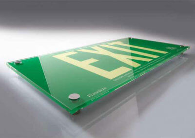 green-exit-sign