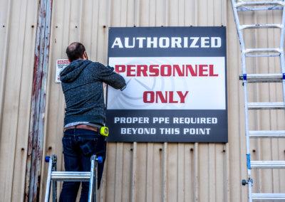 Puget Sound Steel Wayfinding Installation 7-1