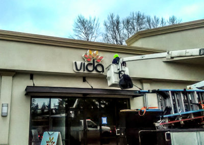 Vida Building Sign Installation 2-3