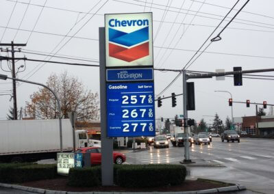Chevron Gas Pole Sign (1)