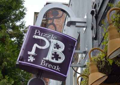 Puzzle Break Projecting Business Sign 6