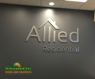 Allied Residential - Lobby Sign