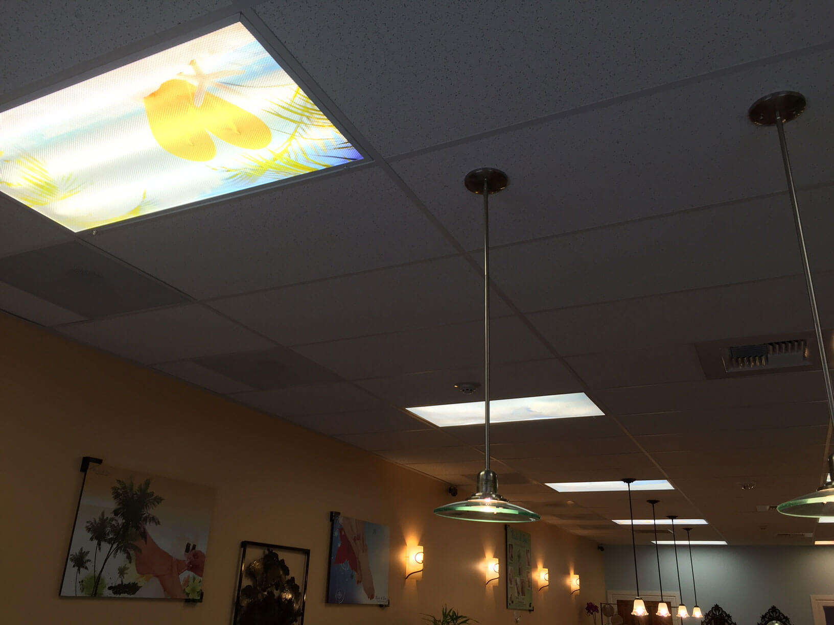 Decorative Light Cover Panels On