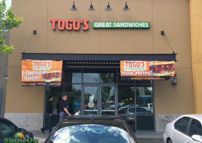 TOGOs channel letter sign