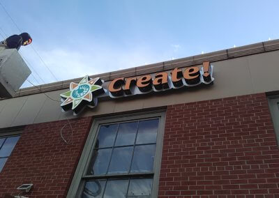 We Create Logo Box Channel Letters Installation (5)