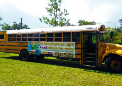 school bus banner
