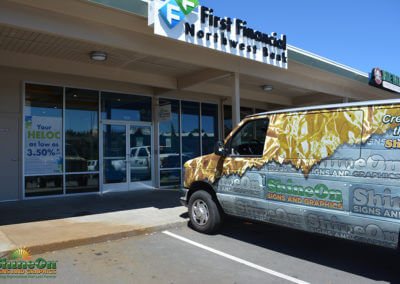 First Financial NW Window Graphics