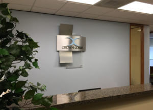 finished lobby sign
