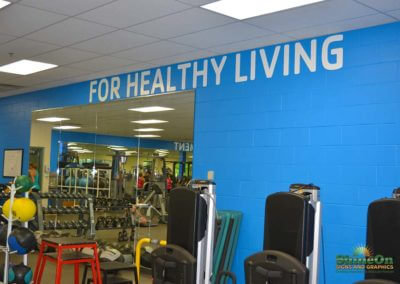 Gym wall graphics